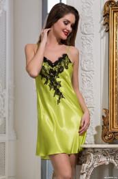 "3190 Сорочка шелковая ""Chantal"" lime"