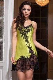 "3191 Сорочка шелковая ""Chantal"" lime"