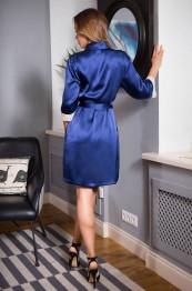 """15113 Халат шелковый """"Kristy"""" blue"""