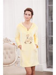 """232 Платье домашнее """"Cleo"""" желтый"""
