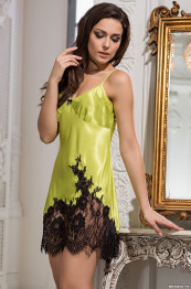 "3194 Сорочка шелковая ""Chantal"" lime"