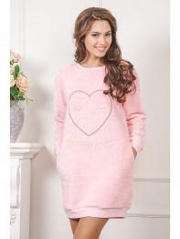 """631 Платье домашнее """"Cleo"""" розовый"""