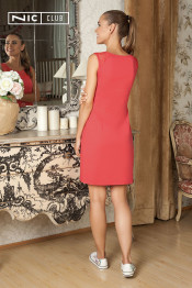 1601 Платье трикотажное Juicy коралл