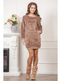 """631 Платье домашнее """"Cleo"""" коричневый"""