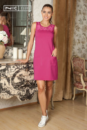 1601 Платье трикотажное Juicy фуксия