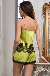 """3192 Пижама шелковая """"Chantal"""" lime"""