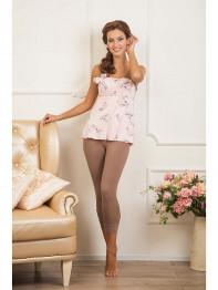 """301 Пижама женская """"Cleo"""" розовый, коричневый"""