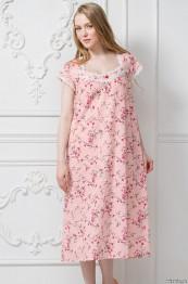 """6474 Сорочка из хлопка """"Emma"""" rose большие размеры"""