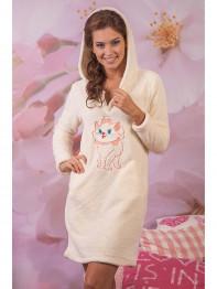 """232 Платье домашнее """"Cleo"""" молочный"""