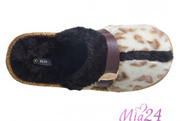 "KT-57128 Тапочки домашние ""Светлый леопард"""