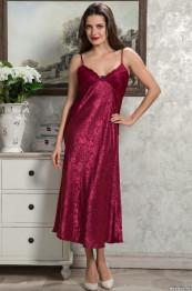 9538 Сорочка женская Angelina Deluxe бордо