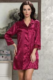 9537 Рубашка женская Angelina Deluxe бордо