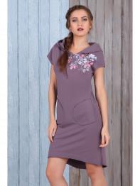 1503 Платье трикотажное Amber Queen сливовый