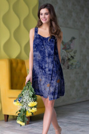 "16233 Платье из вискозы ""Gloria"" blue"