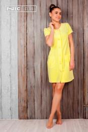 1601  Халат женский Comfort yellow
