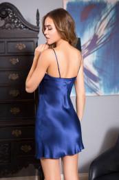 """15110 Сорочка шелковая """"Kristy"""" blue"""