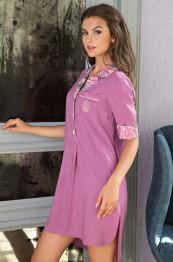 """16054 Рубашка-халат """"Melany"""" сирень"""