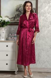 9539 Халат женский Angelina Deluxe бордо