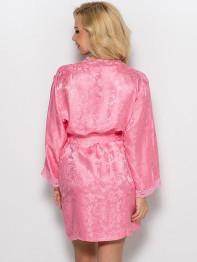 """5703 Халат шелковый """"Amely"""" pink"""