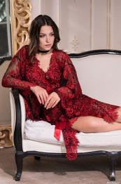 "2103 Кружевной халат ""Michelle"" red"