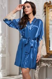 """3193 Халат шелковый """"Chantal"""" blue"""