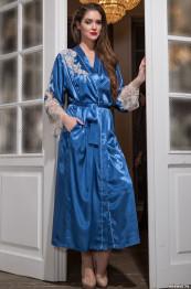 """3199 Халат шелковый """"Chantal"""" blue"""